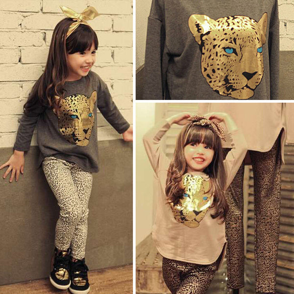 Girls 2 pc Animal print Set - Charis Kids Boutique,   - Kids clothes