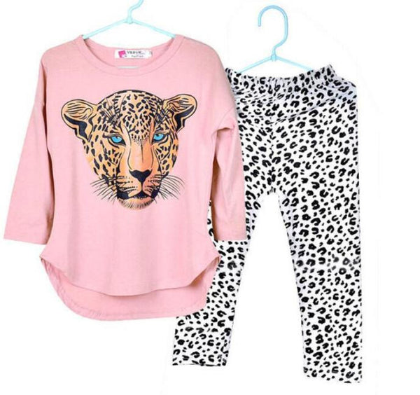 Girls 2 pc Animal print Set