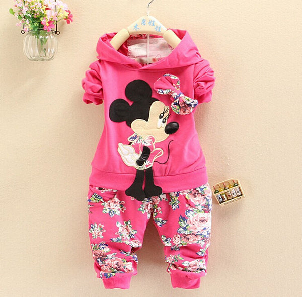 Minnie Floral Hoodie Set - Charis Kids Boutique,   - Kids clothes