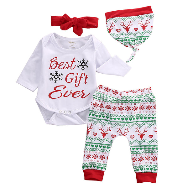 Best Gift Ever 3ps Christmas Set - Charis Kids Boutique,   - Kids clothes