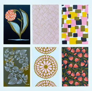 Pack of 12 assorted postcards - Fall Patterns Collection