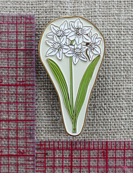 Paperwhites Enamel Pin - December Birth Flower