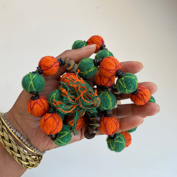 Thread Bead Necklace from India