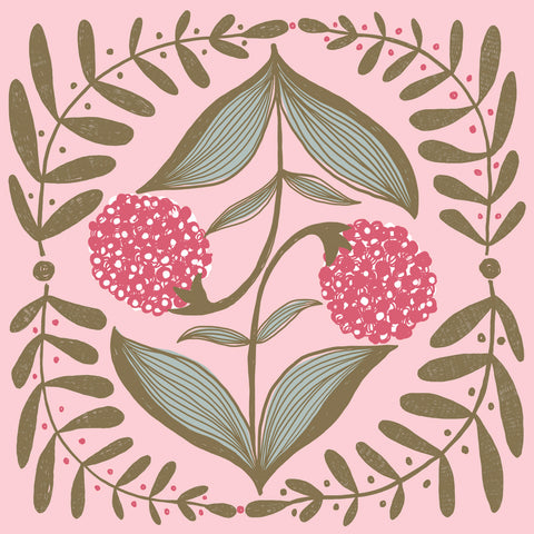 Allium Print in Pink
