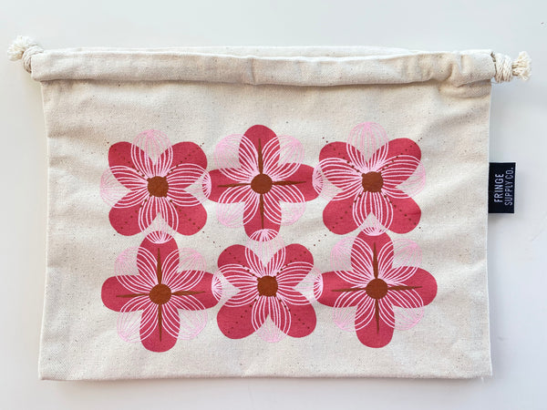 Argyle Flowers limited-edition canvas drawstring bag