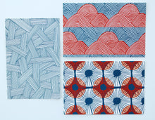 Pack of 12 assorted postcards - Geometrics collection
