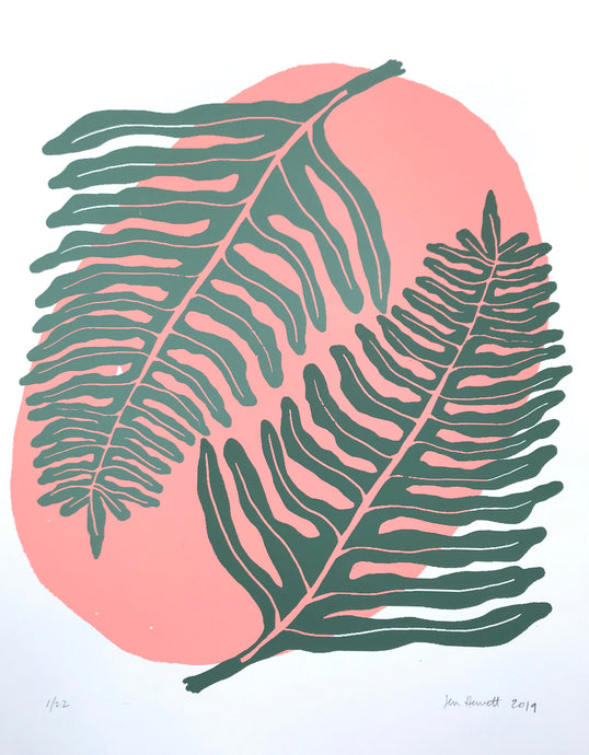 Ferns: A Love Story. Limited-edition, screenprinted print