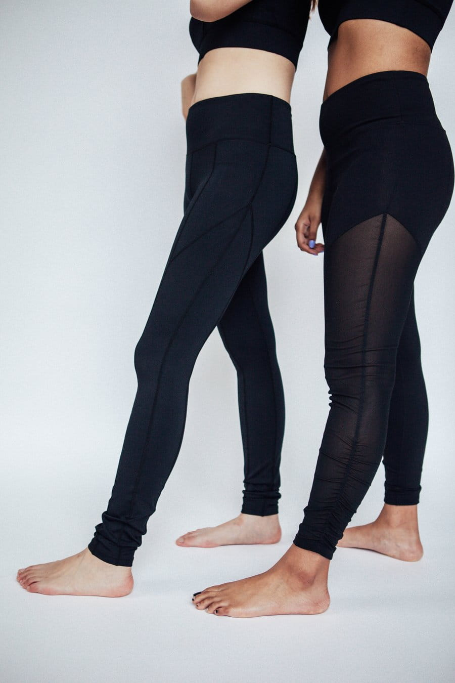 Black Breezy Leggings, Mesh Yoga Pants | Black Mesh Cutout Leggings | Shop Grit & Zest