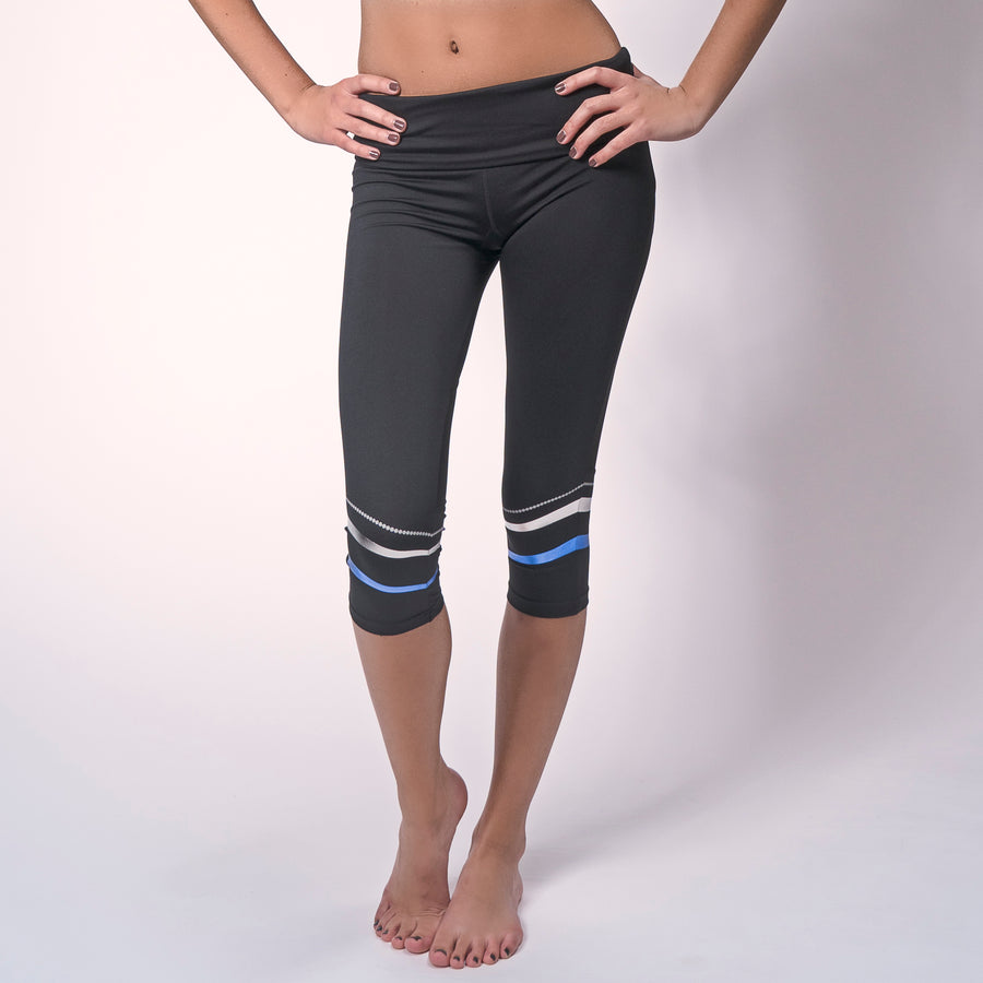 Black Ribbon Capris, Striped Capri Leggings | Shop Grit & Zest Athleisure Attire