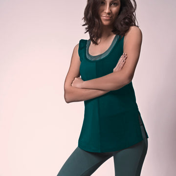Emerald Circle Tank, Emerald Green Athleisure Tank | Shop Grit & Zest For Women's Yoga Tank