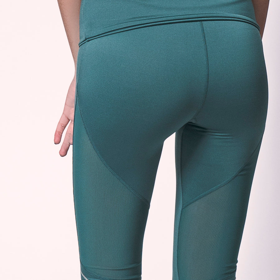 Emerald Ribbon Capris, Women's Activewear Capris | Find Fun Capris At Grit & Zest