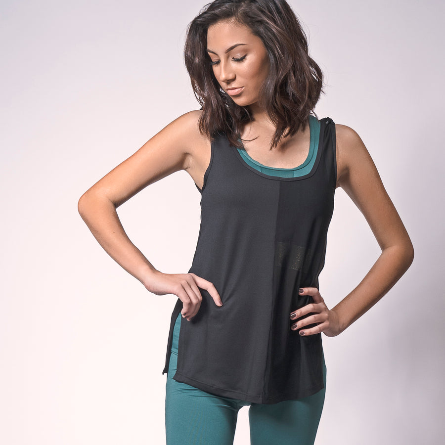 Black Circle Tank, Black Circle Tank | Loose Tank Top | Shop Grit & Zest