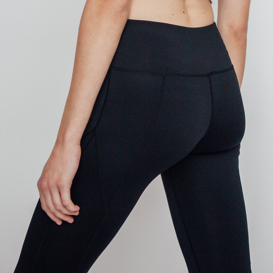 Black Easy Leggings, Black Full Length Leggings | Shop Grit & Zest Athleisure Wear