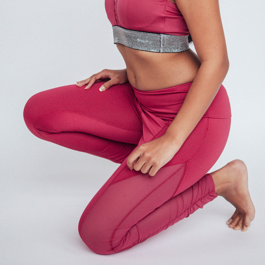 Raspberry Breezy Leggings, Activewear Leggings | Shop Leggings For Work And Play at Grit & Zest