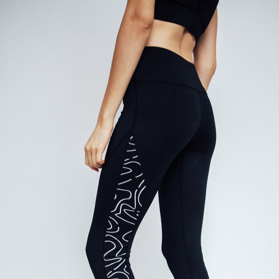 Reflective Easy Leggings | Shop Grit And Zest For Black Reflective Leggings