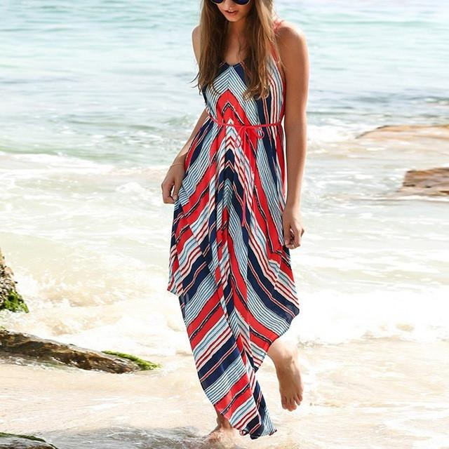 Boho Striped Summer Dress
