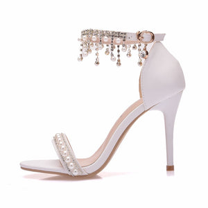 New White Wedding Stilettos