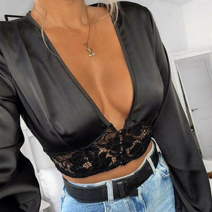 Mesh Sheer Blouse - Love Me