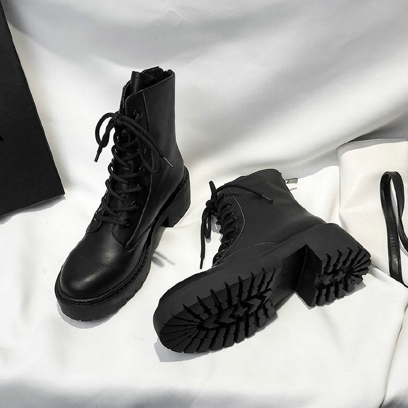Motorcycle Style Ankle Boots