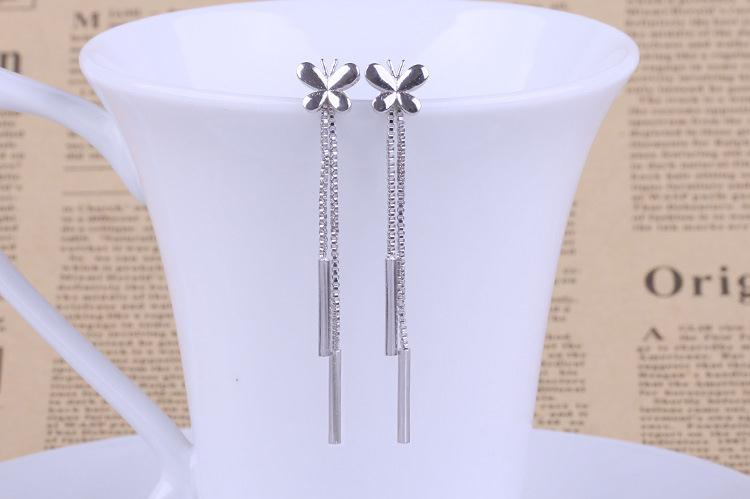 Butterfly Tassels stud earrings 925 sterling silver