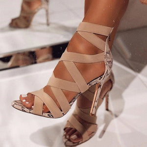 Stretch Ankle Strap Stilettos