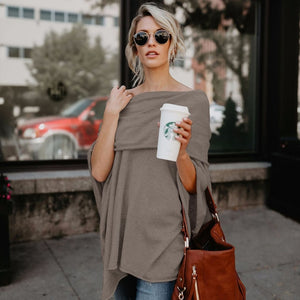 Off Shoulder Loose Sweater