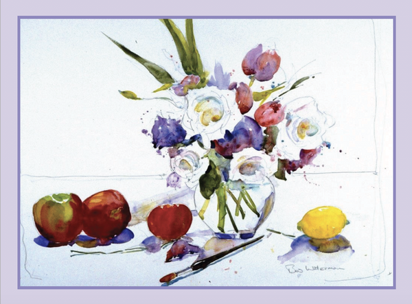 """Flowers with Fruit"" Bob Waterman Watercolor Notecards"