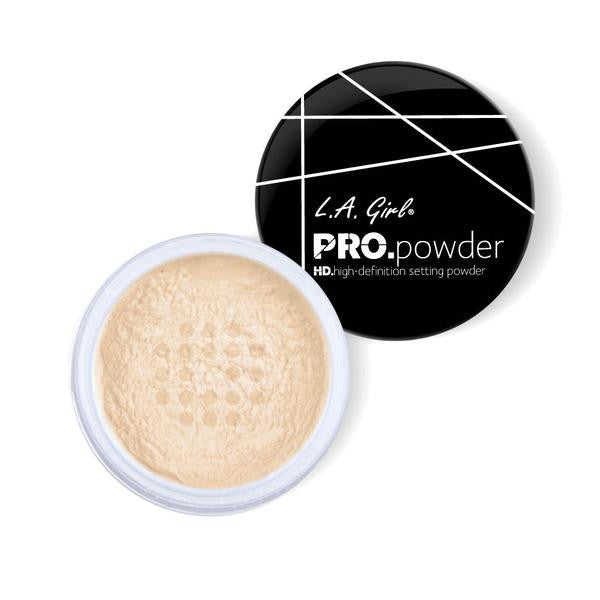 La Girl Makeup HD PRO Setting Powder - Banana