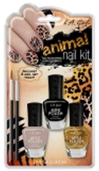 La Girl Manicure Nail Kit - Animal