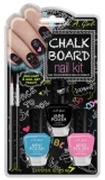La Girl Manicure Nail Kit - Chalk Board