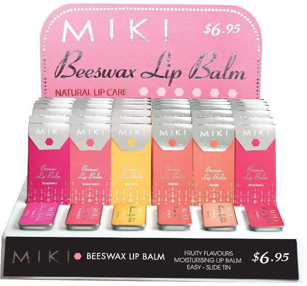 MIKI Makeup Miki Beeswax Lip Balm - Raspberry
