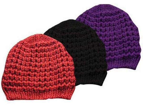 Bella Soft Wool Knit Beanie (One Size) - Red da30f71432f