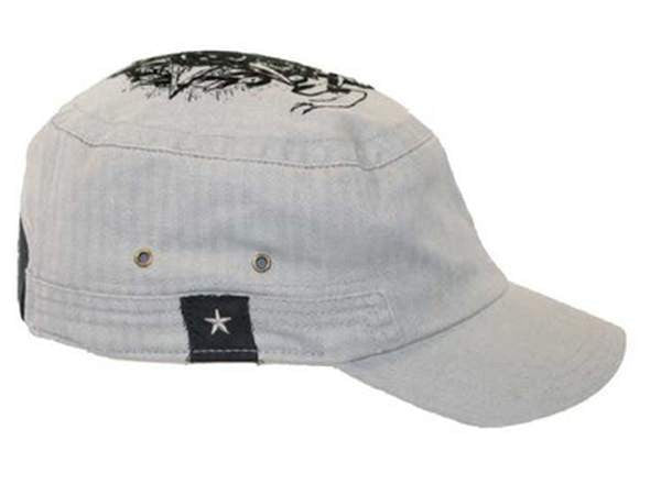 NZ Made Fashion Accessories Flocked Print Cap (One Size) - Light Grey