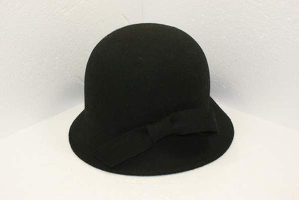 NZ Made Fashion Accessories Loop Bow Felt Cloche (One Size) - Black