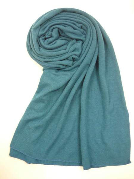 NZ Made Fashion Accessories Stylish Block Colour Woof Scarf - Blue