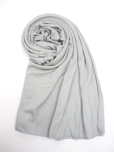 NZ Made Fashion Accessories Stylish Block Colour Woof Scarf - Silver