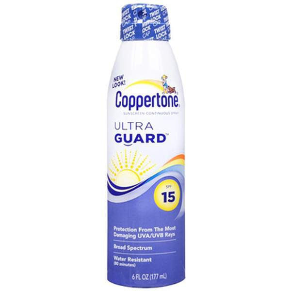 Pharmacy Brands Sun Care Coppertone Sunscreen Spray Ultra Guard - SPF 15