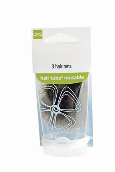 QVS Hair Accessories QVS Bun Nets Light Brown (4)