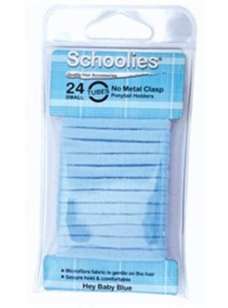 Schoolies Hair Accessories Baby blue - No Metal Clasp Hair Tubes (24)