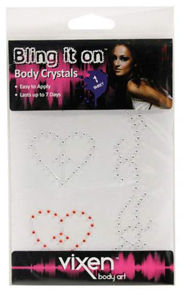 Vixen Fashion Accessories Body Crystals (Hearts) - Large