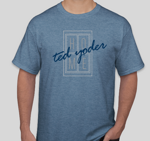 Heather Blue HOME T shirt