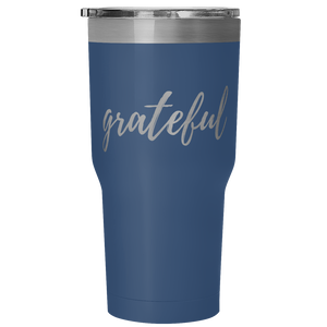 """Grateful"" Travel Tumbler"