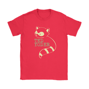 Women's Ted Yoder Raccoon T shirt