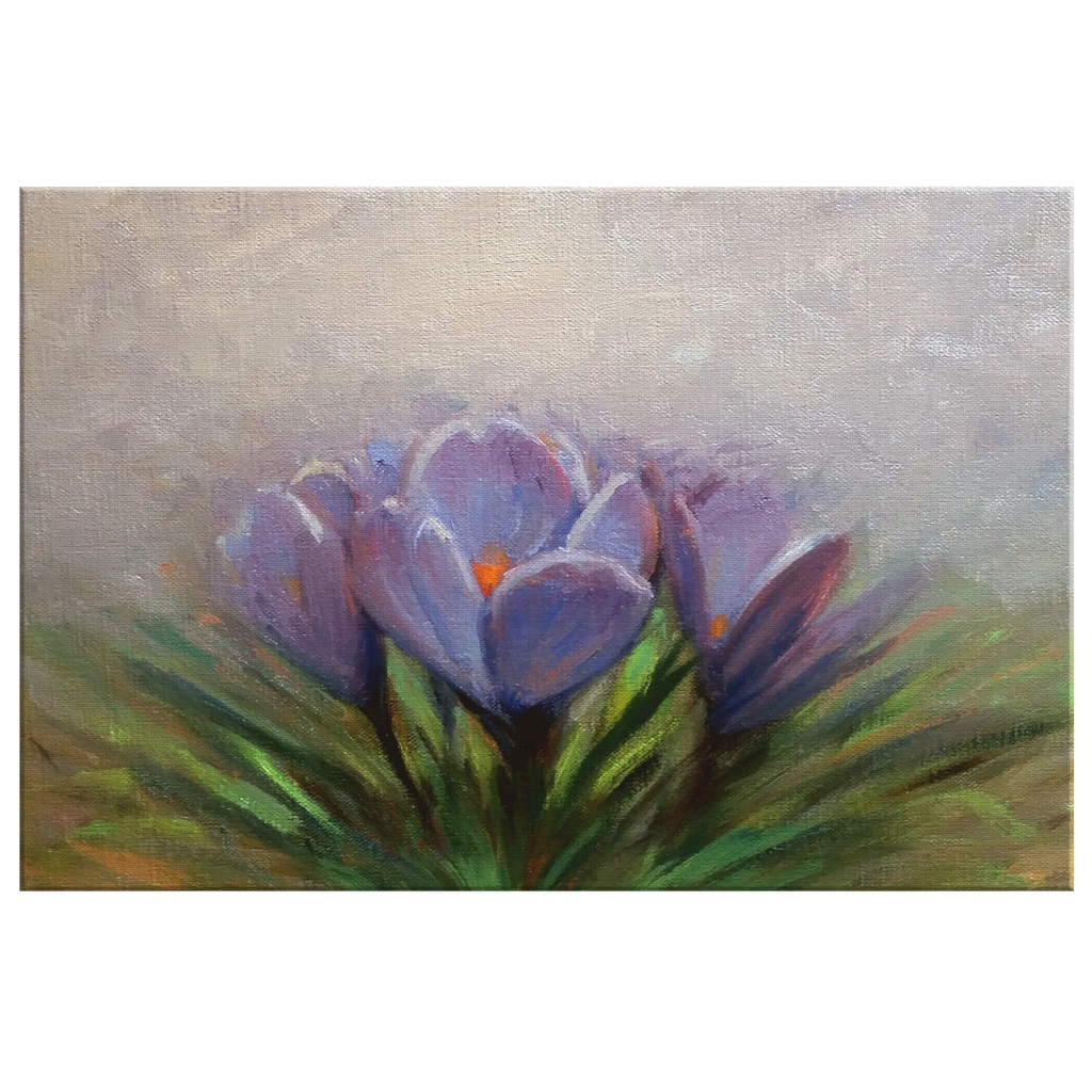 March of the Crocus 8x12 Canvas