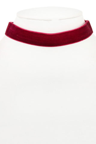 Burgundy Velvet Choker Necklace - NULABoutique