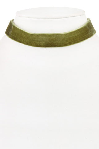 Olive Velvet Choker Necklace - NULABoutique
