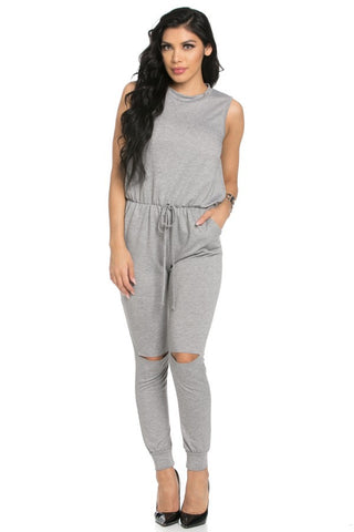 Vanessa Jumpsuit - Heather Gray - NULABoutique