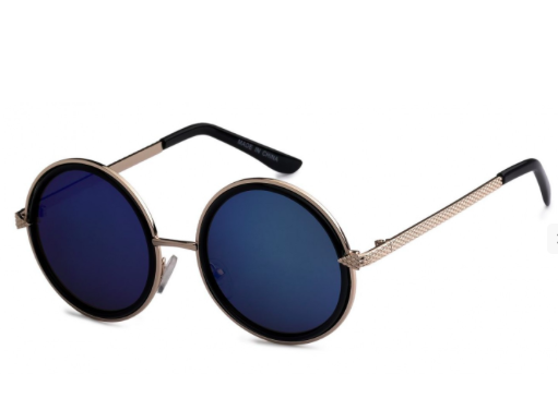 Kasey Sunglasses-Navy Blue/Black - NULABoutique