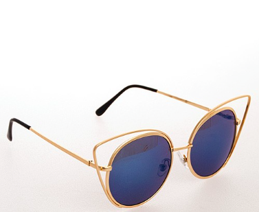 Harlow Sunglasses-Blue - NULABoutique
