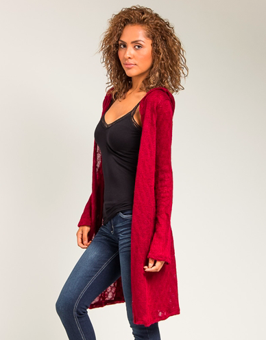 Burgundy Cardigan - NULABoutique